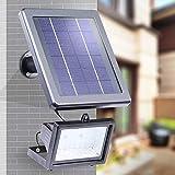 Solar 30 LED Flutlichtstrahler Außenstrahler Außenleuchte Strahler Solarleuchte Fluter Solarlicht Flutlicht mit Lichtsensor Sicherheitslicht strahler mit bewegungsmelder IP65 Wasserdicht