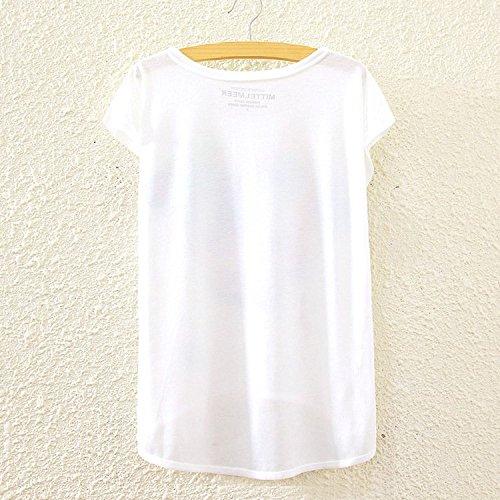 YICHUN Damen T-Shirt Mehrfarbig mehrfarbig One size Lion 5#