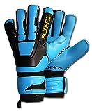 Ichnos Braja Hybrid Neon guanti da portiere calcio con stecche...