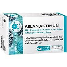 Aslan Aktimun, 30 Kapseln – Nährstoffkomplex zur Unterstützung der Abwehrkräfte mit Vitamin C, Beta-Glucan, prebiotischen Nährstoffen, probiotischen Bakterien