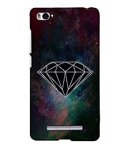 FUSON Abstract Diamond Triangle Pattern 3D Hard Polycarbonate Designer Back Case Cover for Xiaomi Mi 4i :: Xiaomi Redmi Mi 4i