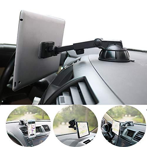 """PLDHPRO Handy- und Tablet-Autohalterung magnetisch, Armaturenbrett-Windschutzscheibenhalterung, 360 ° drehbarer, TPU-Saugfunktion klebriges Gel, für iPhone, iPad, Größe 4 \""""- 10\"""" Tablet"""