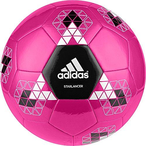 adidas Starlancer V - Balón de fútbol, color rosa, talla 4