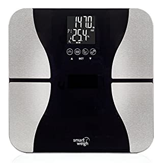 Smart Weigh SW-SBS500 Digital Body Fat Scale 200kg Weighing Capacity (Black)