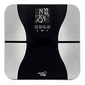 Smart Weigh Body Fat Digital Precision Scale with Tempered Glass Platform