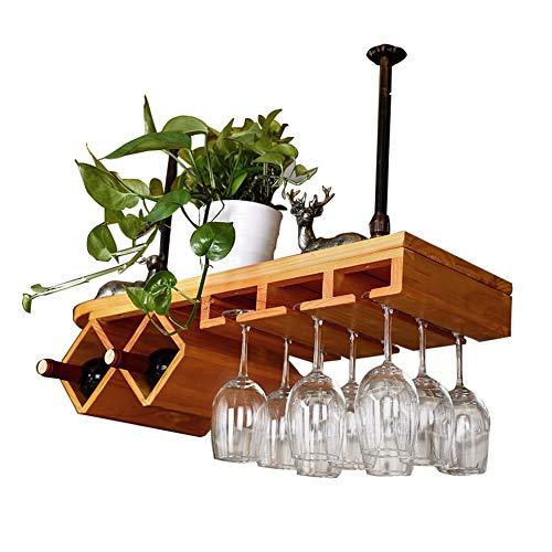 QIANDING jiujia Weinglashalter des Festen Holzweinglases hängender Weinkelch, der umgedrehten...