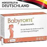 BabyFORTE Kinderwunsch • 30 Kapseln • 800 mcg Folsäure, Eisen, Vitamin D, Jod & mehr • Kinderwunsch Vitamine Frau • Vegan