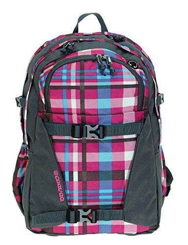 ceevee-schulrucksack-brighton-xl-rucksack-mit-laptopfach-41-x-29-cm-vogue-trinkflasche-co2-caro-pink