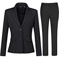 YYNUDA Women's 2-Piece Suit Casual Work Office Blazer Trousers Two Buttons Formal Jacket Costumes