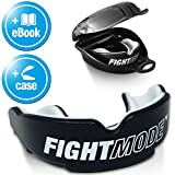 FIGHT MODE � Mundschutz + gratis Hygiene-Box + gratis eBook | Zahnschutz anpassbar, in schwarz f�r Erwachsene | die beste Wahl beim Kampfsport, Boxen, Kickboxen, MMA, American Football & Eishockey Bild