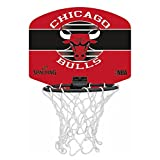 SPALDING - NBA MINIBOARD CHICAGO BULLS (77-649Z) - Mini Panier Basket - Logo Officiel NBA - Mini Ballon Inclus - multicolore -