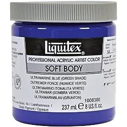 Liquitex Acrílico Profesional Soft Body, Tarro 237 ml, Azul Ultramar (Matiz Verde)