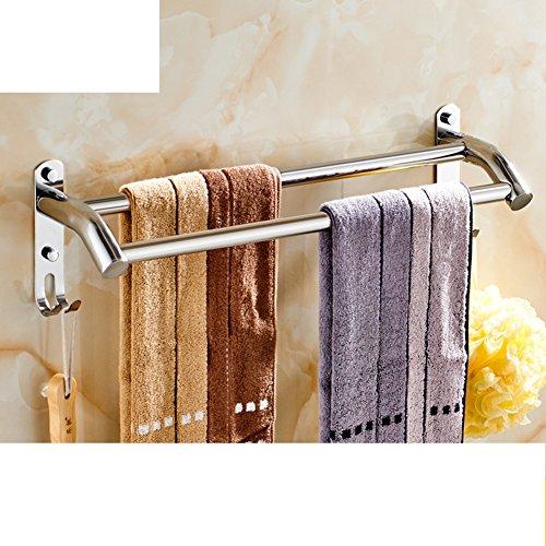 Portasciugamani in acciaio inox/ bagno asciugamano appeso/ bathroom wall e Sapone/ doppia cremagliera di tovagliolo-B