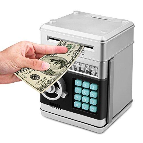 AlienTech Cartoon Elektronische ATM Passwort Sparschwein Bargeld Münze Auto Scroll Papier Geld Sparen Box Geschenk für Kinder (Kinder Elektronische Auto)