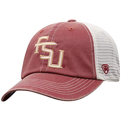 Top of the World Herren Mütze NCAA Vintage Team Icon verstellbar, Herren, NCAA Men's Vintage Mesh Adjustable Icon Hat, Florida State Seminoles Garnet, Einstellbar (State Seminoles Hat Florida)