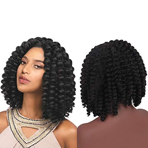 Parrucca clifcragrocl,parrucca afro capelli sintetici neri africani ricci arricciati centro parrucca di divisione - mcjj02