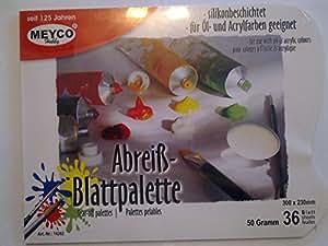 Palette pelable pour l'huile et l'acrylique 50gsm 230mm x 300mm 36 feuilles