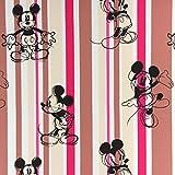 Fabulous Fabrics Verdunkelungsstoff Mickey Mouse 2 — Meterware ab 0,5m — zum Nähen von Kissen und Tagesdecken, Tischdekorationen und Vorhängen