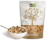 Zweiglein Bio Protein Low Carb Müsli Haselnuss, 435g - 84% weniger Kohlenhydrate - 33% Protein - ohne Zuckerzusatz - getreidefrei - laktosefrei