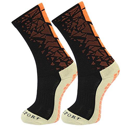 Ynport Crefreak Mens-Anti-Beleg-Fußball-Socken-mittlere Kalb-Fußball-Socken-Fußball-Kurze Strümpfe Rutschfeste Sportsocken Gummiauflagen Basketball Wandern laufend - Kurze Kalb