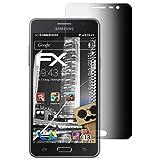 atFolix Blickschutzfilter für Samsung Galaxy On5 (2015) Blickschutzfolie - FX-Undercover 4-Wege Sichtschutz Displayschutzfolie