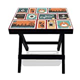 #7: Nutcase Designer Folding Wooden Side Table-Portable Foldable Compact Bed Side Coffee Table - 12 (L) x 15(w) x 16 (h)