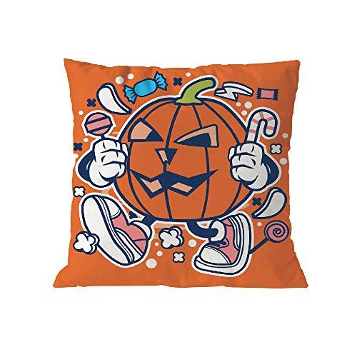 VEMOW Heißer Halloween Party Dekoration Polyester Kissen Sofa Taille Wurf Kissenbezug Wohnkultur Kissenbezug Fall (18