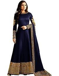Zeel Fashion Women's Silk Dress Material (SF9A_Free Size_Blue)