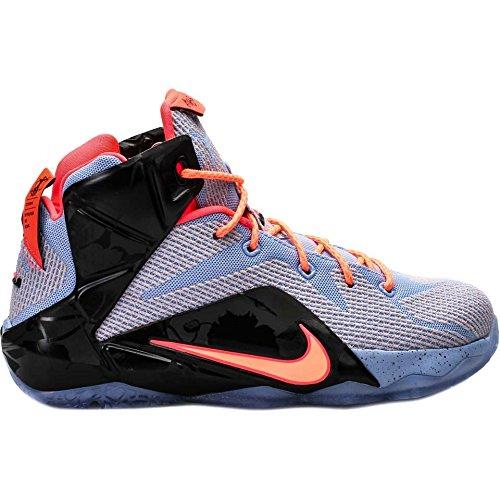Nike Lebron Xii. (GS) Hi Top Basketball Trainer 685181Sneakers Schuhe, Aluminium Sunset Glow Black Hot Lava 488 - Größe: 36,5 EU Nike Schuhe Für Kinder Größe 12