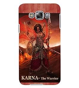 ColourCraft Suryaputra Karna Design Back Case Cover for SAMSUNG GALAXY E7