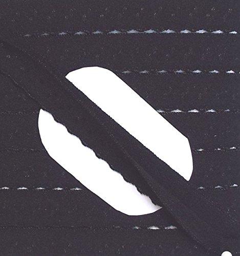 Großhandel für Schneiderbedarf 2 m Dessous Einfassband Elastisch 10 mm Schwarz mit Punkten und Bogenkan