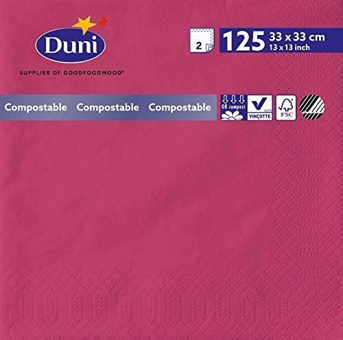 Duni 1655862lagig Tissue Servietten, 33cm x 33cm, Fuchsia (2000Stück) - Wirtschaft Tissue-papier