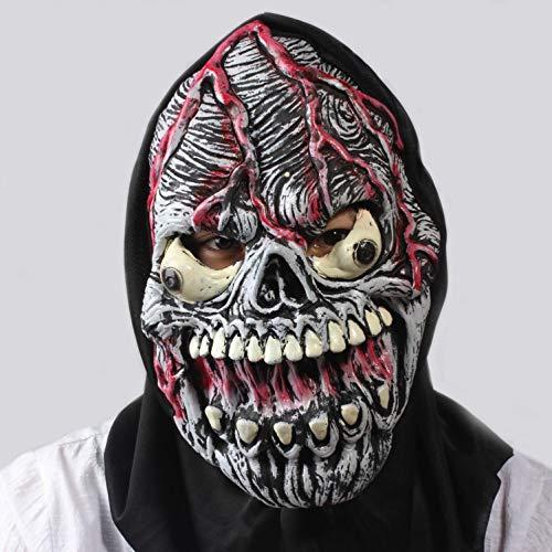 MIANJV Einzigartige Scary Halloween Teufel Horror Maske Neuheit Latex Gummi Gruselige Kopf Masken Gesicht Schrecklichen Albtraum für Karneval Kostüm Party, Grass Green
