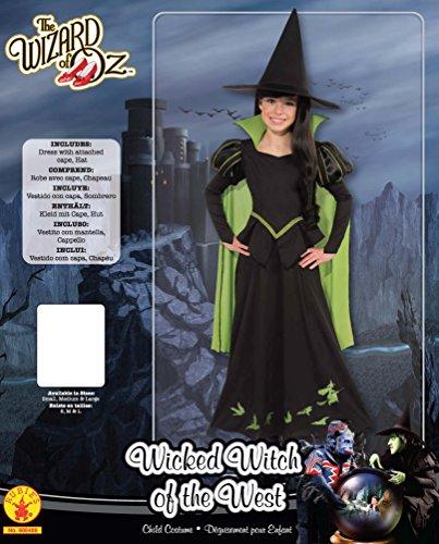 Imagen de bruja malvada del oeste  el mago de oz  childrens disfraz  medium  132cm alternativa