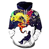 GuiSoHn Unisex Hoodie 3D Gemalt Druck Kapuzenpullover Langarm Sweatshirt Kapuzenjacke Mit Taschen M