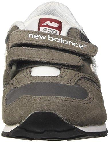 New Balance 420 Hook and Loop, Baskets Basses Mixte Enfant Gris (Grey)