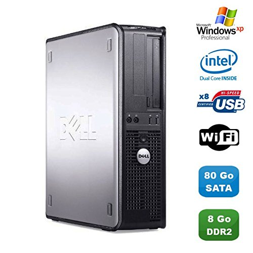 PC Dell Optiplex 760 DT Intel Dual Core E5200 2,5 GHz 8 GB DDR2 80 GB WiFi XP - Dell Windows Xp-cd