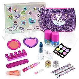 Anpro Set di Trucco per Ragazze – 15 Pezzi Cosmetici Lavabili per Bambine Principessa, Compres