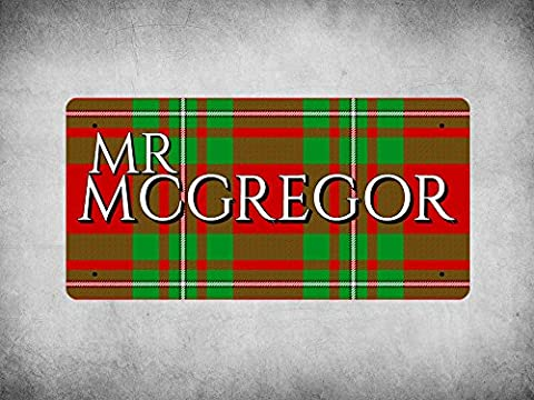 WP_CLAN_499 MR MCGREGOR surname (MacGregor Modern Tartan) - Metal Wall Plate