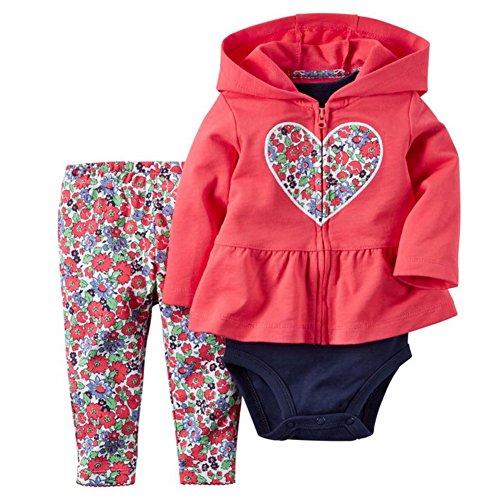 ARAUS Baby Kleidung Set Jungen Romper Langarm Sweatjacke Mädchen Outfits Hoodie Kombination 3-18 Monate (Kostenloser Baby-mädchen-kleidung Versand)
