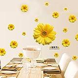Gosunfly Gänseblümchen, Große Blumen, Schränke, Wände, Nachttisch, Tv, Hintergrund, Romantisches Hochzeitszimmer, Aufkleber, Kühlschrank, Chrysantheme, Pink, 1 Sätze, 11 Blumen.