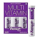 Fast&Up Vitalize - Multi Vitamins, Effervescent Multi Vitamin Supplements For Unisex 3X20 Capsules