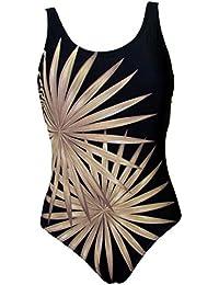 Maillot de Bain Femme 1 Pièce Monokini Look Amincissant Grande Taille