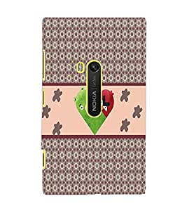 PrintDhaba Heart Pattern D-5747 Back Case Cover for NOKIA LUMIA 920 (Multi-Coloured)