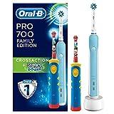 Oral-B Brosses À Dents Électriques Pack Famille 1Pro700, 1Stages Power