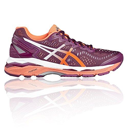 Asics Damen T696N 3206 Laufschuhe, Mehrfarbig (Dunkellila/Flash Coral/Weiß), 40 EU - Kayano Schuhe Frauen Asics