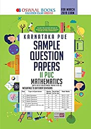 Oswaal Karnataka PUE Sample Question Papers For PUC II Maths (March 2019 Exam) Old Edition