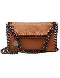 a0a70dd3b5604 Angleliu Damen PU lässigen Kette Handtasche Modisch Schultertaschen Glitzer  Beuteltasche