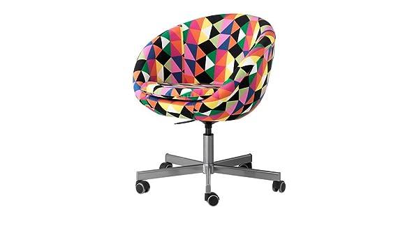 Ikea Skruvsta Draaifauteuil.Ikea Skruvsta Swivel Chair Majviken Multicolour 70x60 Cm