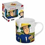 POS Handels GmbH Porzellan Tasse | Feuerwehrmann Sam | 200 ml | Henkel-Becher in Geschenkbox